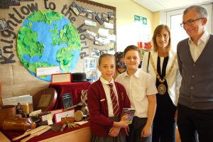 Mayor of Rugby & David Fry with young authors