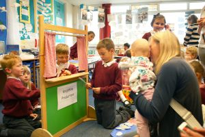 Book launch puppet show